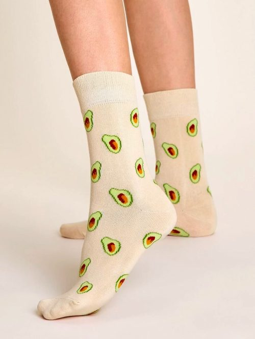 Avocado Pink Socks 1