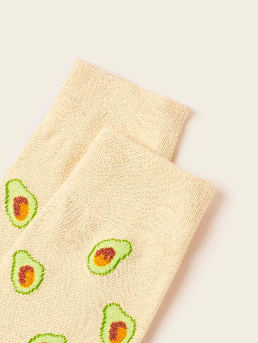 Avocado Pink Socks 3