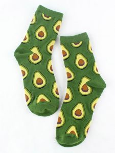 Fresh Fruit Socks Green 1