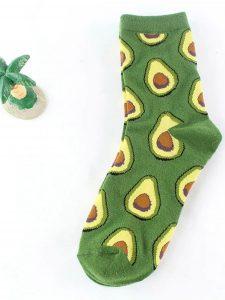 Fresh Fruit Socks Green 2