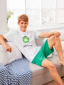 Mens Avocado Top Shorts Set 4