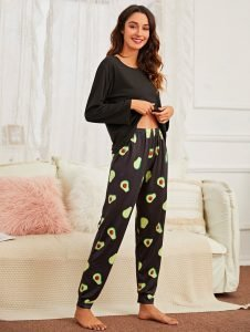 Avocado Black Pajama 3