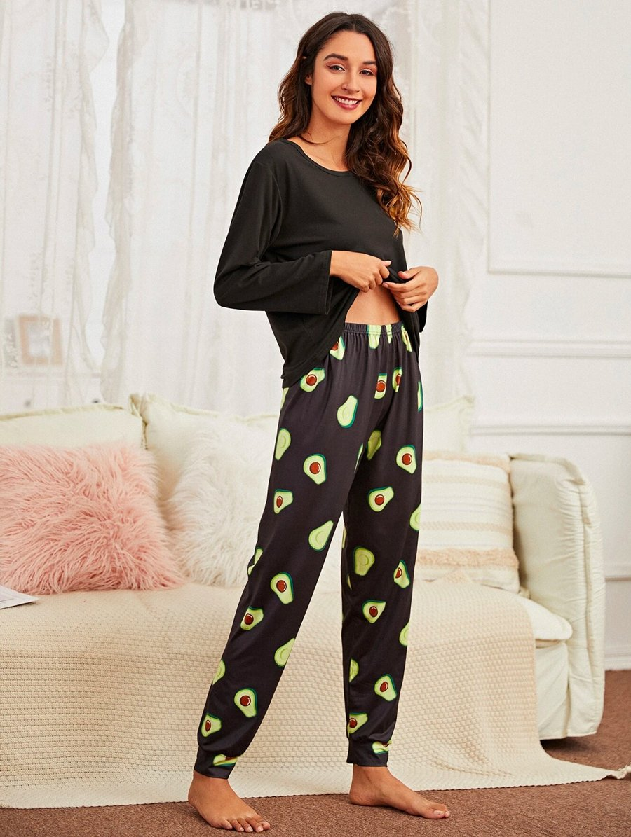 Avocado Black Pajama 3