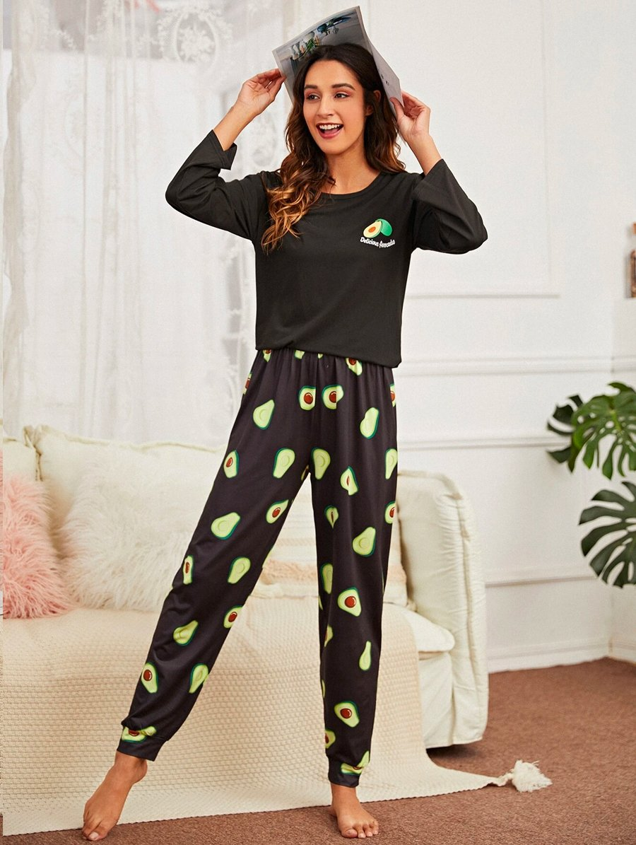 Avocado Black Pajama 4